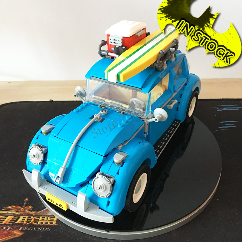 In stock 21003 Classic Beetle Car Create Series City Building Blocks 1193pcs Bricks Toys Compatible With bela 10252