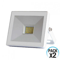 Pack 2 LED projectors 20W Outdoor Ultraslim Orientable White 4000K 7hSevenOn Outdoor