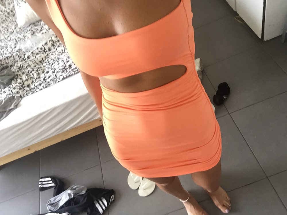 Articat Off Shoulder Sexy Bodycon Bandage Dress Women Sexy Strapless Long Sleeve Hollow Out Party Dresses Vestidos Summer Dress photo review