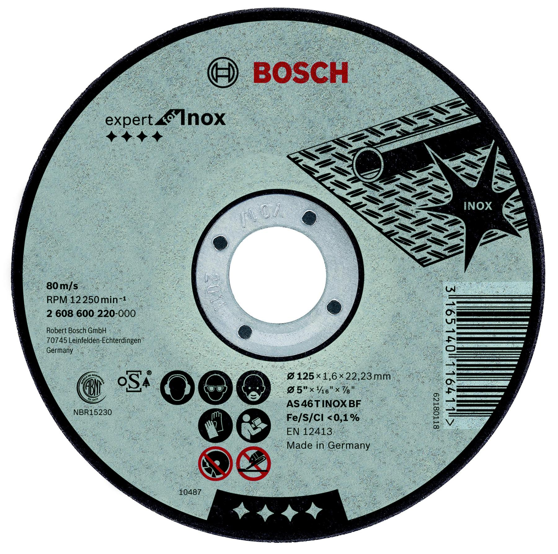 Circle Cutting BOSCH 180х2х22 Expert For Inox (2.608.600.095)