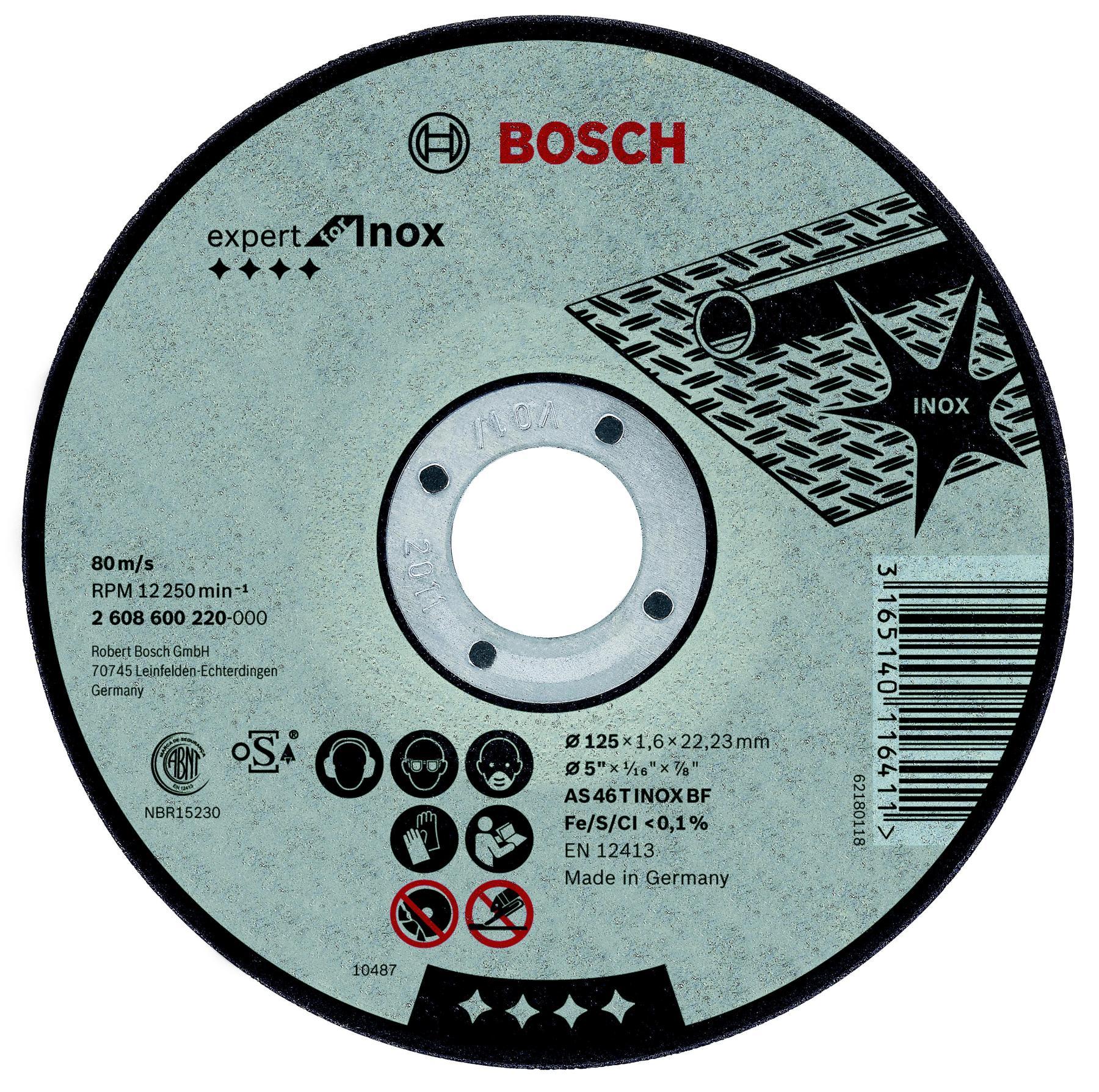 Circle Cutting BOSCH 230х2х22 Expert For Inox (2.608.600.096) 1 PCs