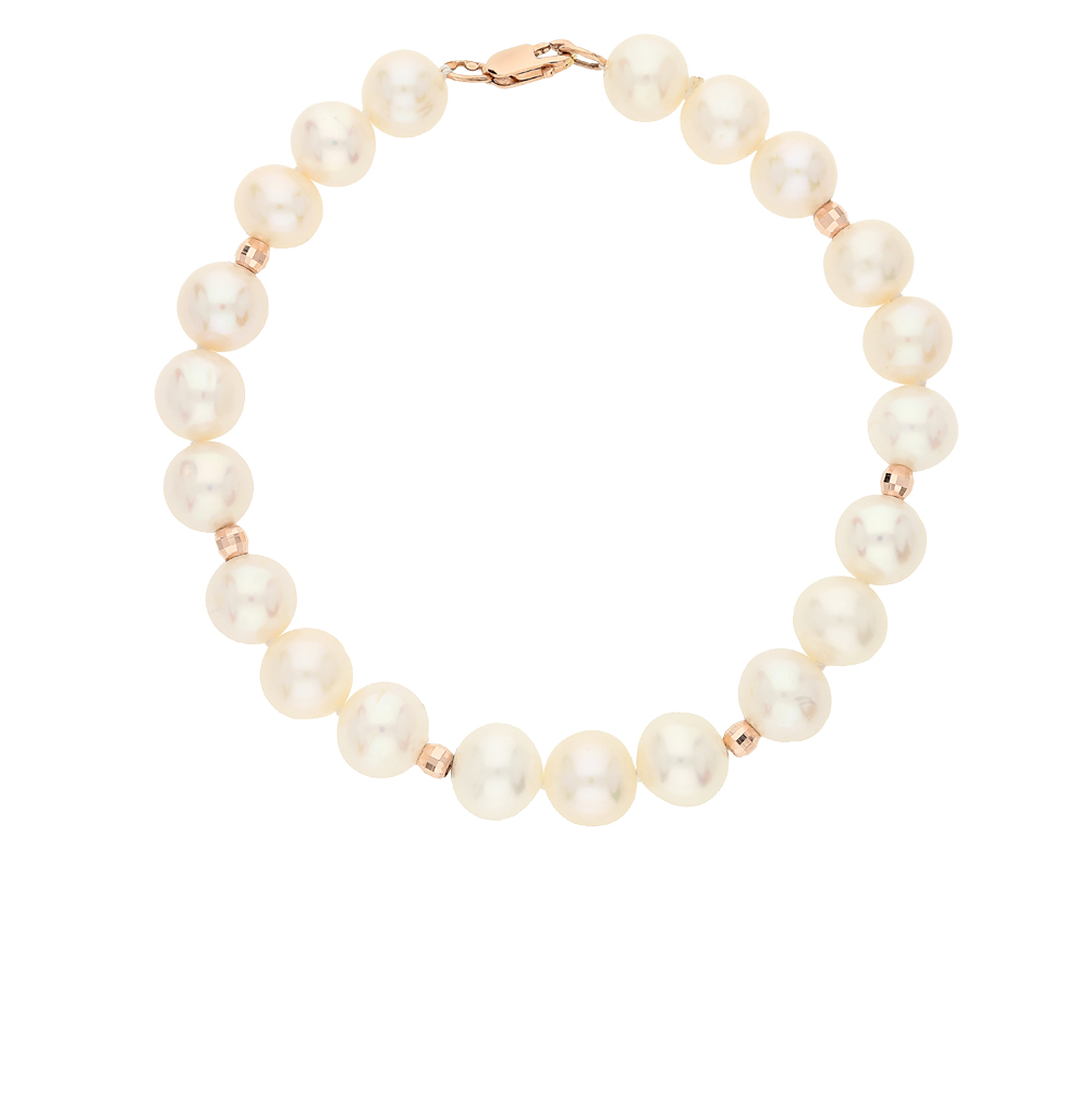 Gold Bracelet With Pearls SUNLIGHT Test 585