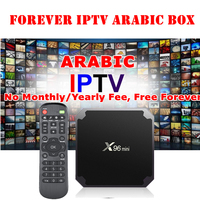 Free Permanent Subscription Arabic IPTV box Free Forever to Watch TV Live Sport and Movies with Android 7.1 Smart Swedish IPTV