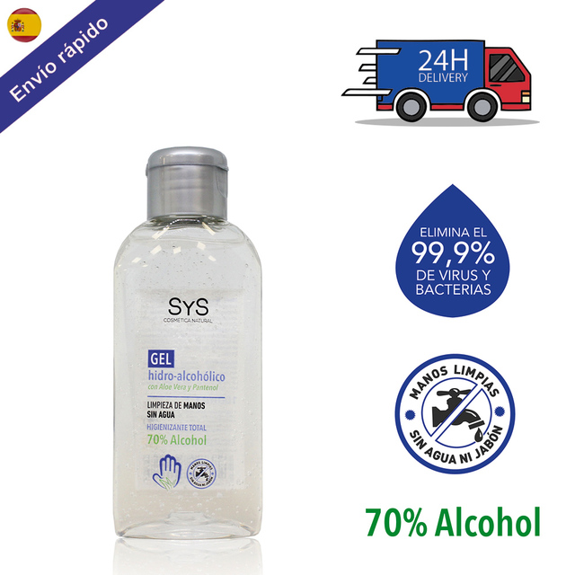 $  GEL HIDROALCOHOLICO hands/100 ML 70% ALCOHOL disinfectant-ANTISEPTICO-cleaning hands-on ALCOHOL and ALOE VERA