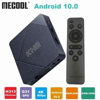 Mecool KH3 Android 10 Tv Box Allwinner H313 Quad-core ARM Cortex-A53 Smart TV 2GB 16GB 2.4G/5G WiFi BT 4.1TV Box Media player x96q tv box android 10 allwinner h313 quad core 4k 3d 2gb 16gb 2 4g wifi media player netflix h 265 smart set top box pk x96mini