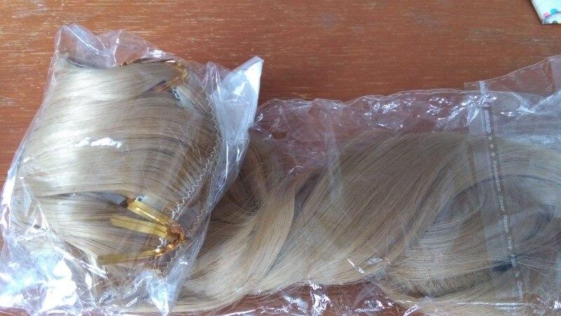Extensões de cabelo sintéticas Grampo Extensões Cabelo