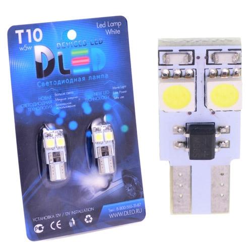 1 pièces LED lampe de voiture T10 - W5W - 4 SMD 5050 (avec un truc)