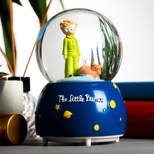 The Little Prince Music and Light Snow Globe