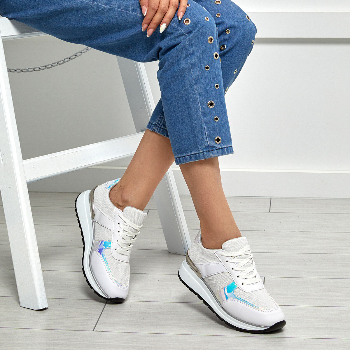 FLO 20S-343 White Women 'S Sneaker Shoes BUTIGO
