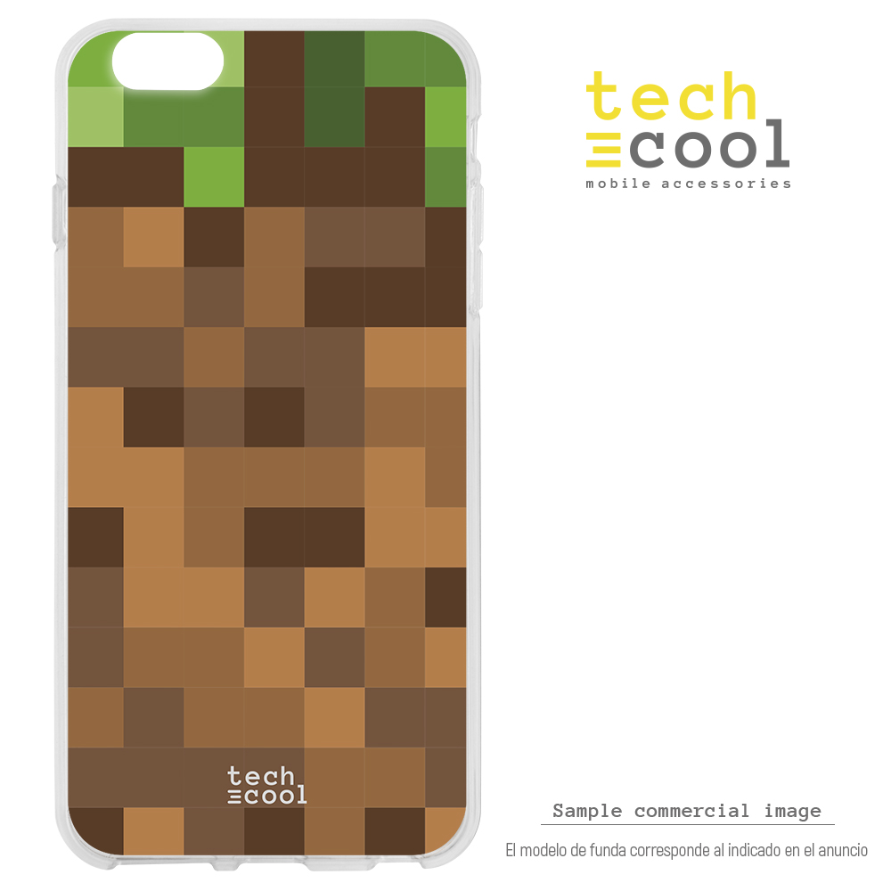 FunnyTech®Silicone Case skin cover for LG K8 2018 L Background Minecraft image