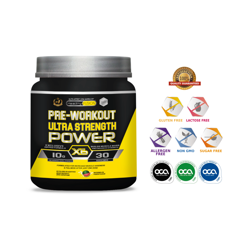 PRE-WORKOUT ULTRA STRENGTH POWER X6-Powerful Pre-Entreno Ultra Concentrated-Workouts Realemente Powerful image