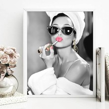 Affiche de film d'artiste britannique, mode maquillage, Art mural de beauté, peinture sur toile, cadeau pour filles, décor mural de Salon de beauté