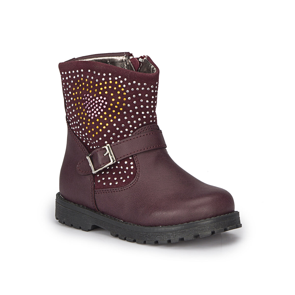 FLO ROZY-2 Burgundy Female Child Boots PINKSTEP