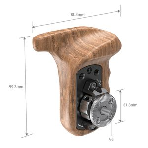 Image 2 - SmallRig Left Side Wooden Handgrip with Arri Rosette Bolt On Mount For Universal DSLR Camera Wooden Handle 1891