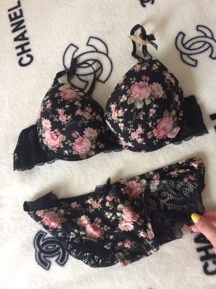 Famous Brand Sexy High Quality Women Print Bra set Silk Lace Flower Push up Big size Underwear Bow Bra and Hollow out Panties-in Bra & Brief Sets from Underwear & Sleepwears on AliExpress - 11.11_Double 11_Singles' Day