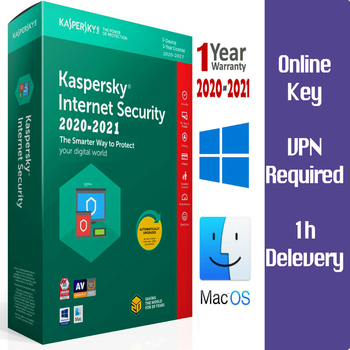 KASPERSKY 2021 Internet Security 1 Device / 2 Year / Win-Mac-Android