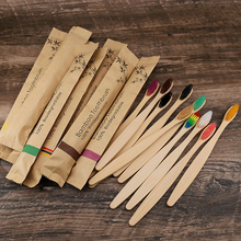 5/10pcs Bamboo Toothbrushes eco friendly Toothbrushes Portable Resuable Adult Wooden Soft Tooth Brush for Home Travel Hotel use
