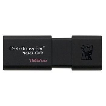 Usb عصا كينغستون DT100G3 128 GB الأسود-في محركات أقراص USB المحمولة من الكمبيوتر والمكتب على