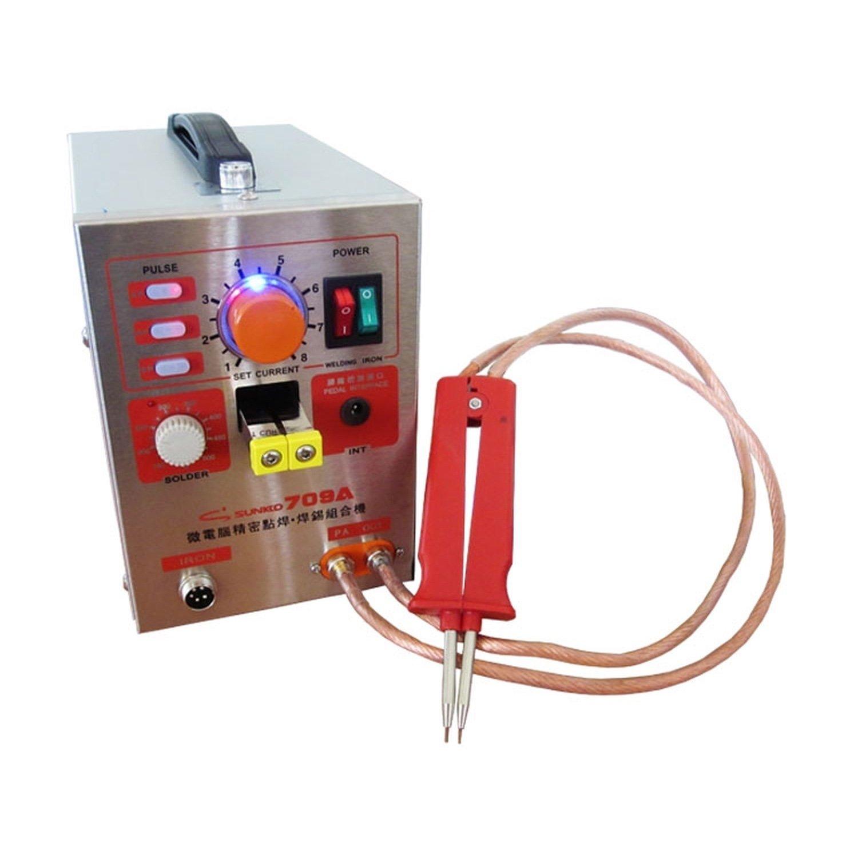 Batteries pulsées de point de machine de soudure 18650, 2170 et pareillement, jusqu'à 800A, soudeuse par points de presse de 1,9kw|Sockets| |  -