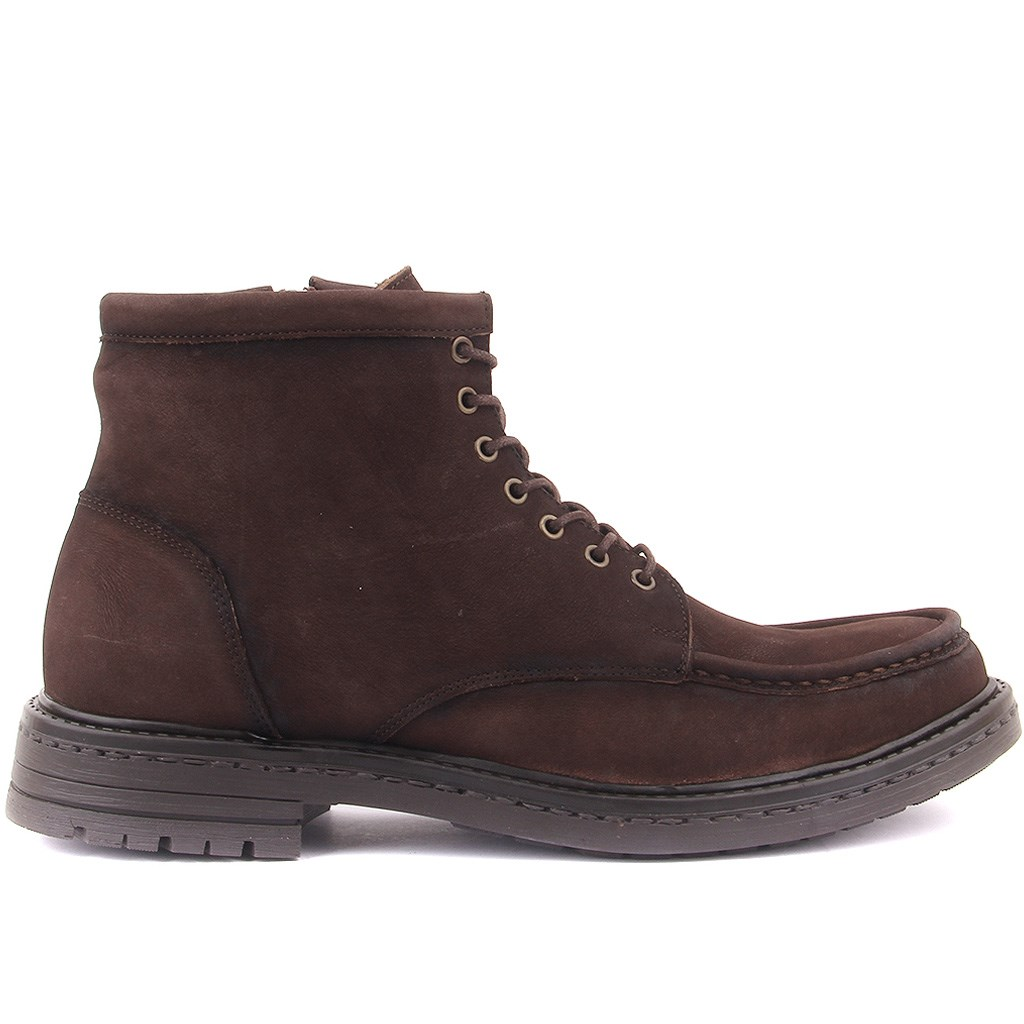 Sail Lakers-Brown Nubuck Zipper Male Boots