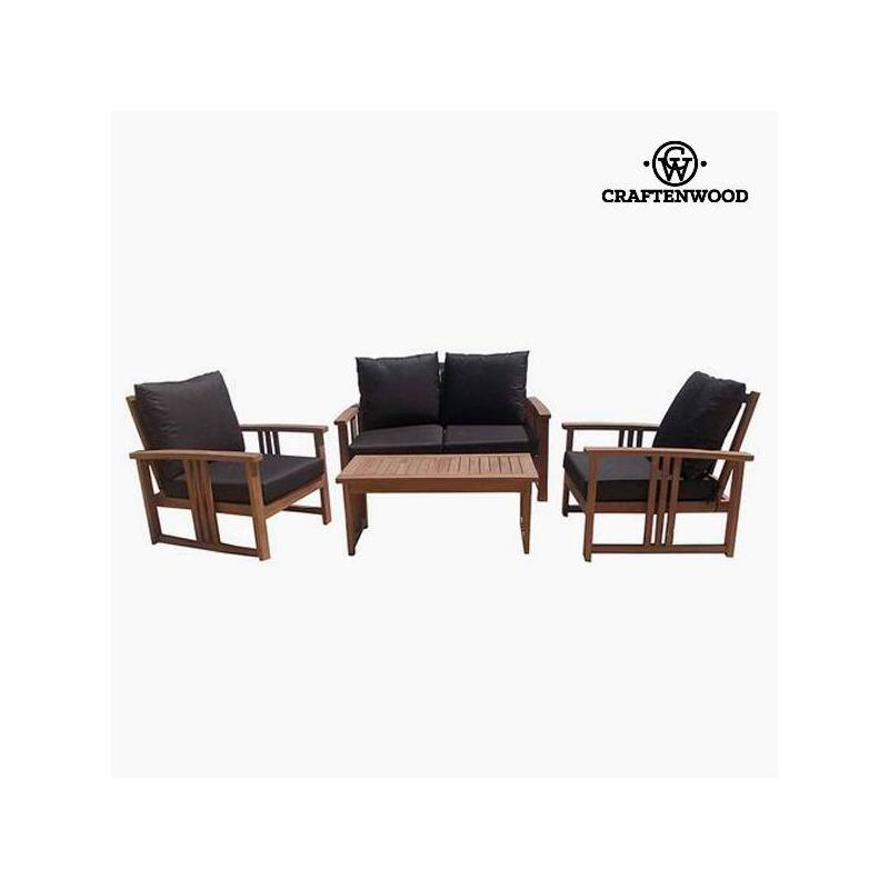Set Of Sofa And Table Teak (4 Pcs) By Craftenwood