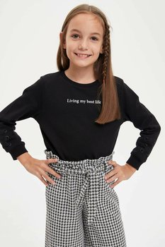 DeFacto Autumn Fashion Girl Long Sleeves Sweat Shirt Kids O-neck Casual Loose Letter Pattern Leisure Comfort Girls - M4344A619WN