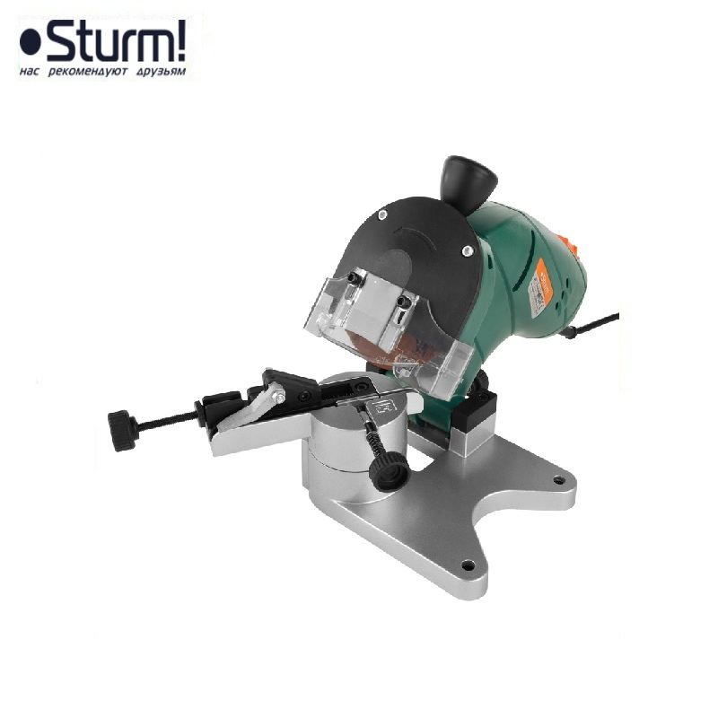 цена на BG60016 Sturm chain sharpener, robust cast support, spark protection, 160 W Sharpen saw chains Chainsaw chain sharpening