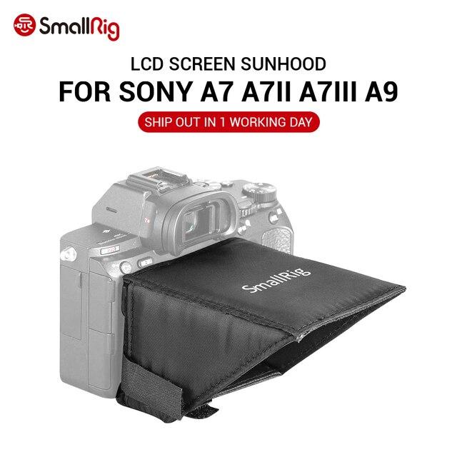 SmallRig A7M3 ekran LCD Sunhood dla Sony A7 A7II A7III A9 serii kamery parasol przeciwsłoneczny 2215