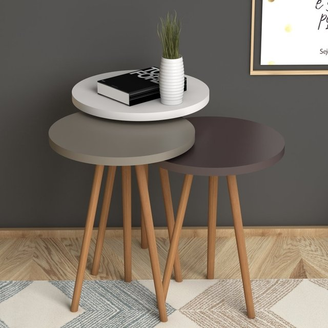 3 Round Nesting Colorful Side Tables 4