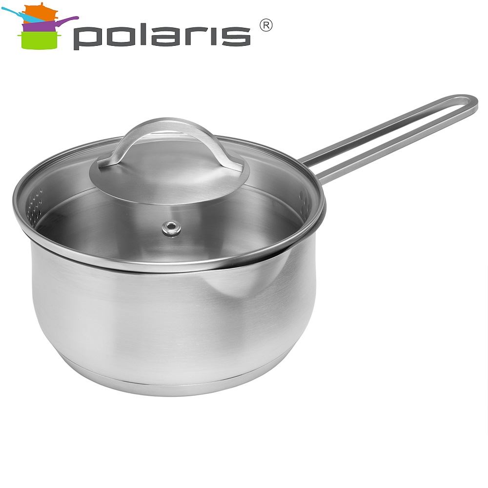Bucket with lid Polaris Solid-16SP Kitchen set stainless steel steel cookware Tableware with lid ladle mug with lid