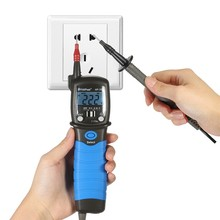 Portable Pen Type Multimeter LCD Display Digital Test DC AC Diode Voltage Fall Audible Continuity 1.5V Batteries