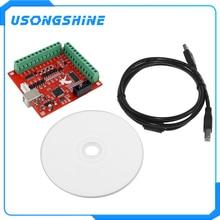 1pcs CNC USB MACH3 100Khz Breakout Board 4 Axis Interface Driver Motion Controller CNC USB MACH3 100Khz Breakout Board 4 Axis In