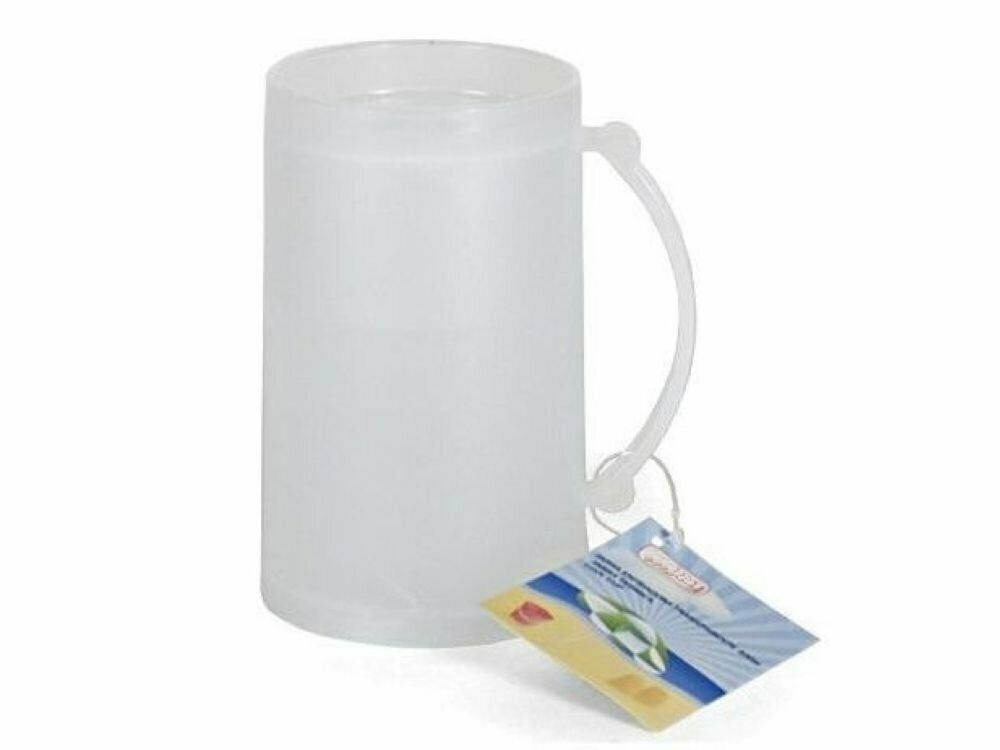 Jug chiller Glass ice beer cup mugs for freeze ice cream cup mugs plastic 15 cm