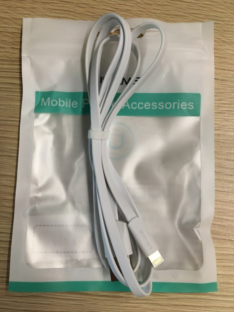 Charger Cable for iPhone XS Max USAMS 2.1A 0.25cm 1m 1.5m Charging Cord for iPhonex 10 8 7 6 Plus 5 5s 5c Data Cable|Mobile Phone Cables|   - AliExpress