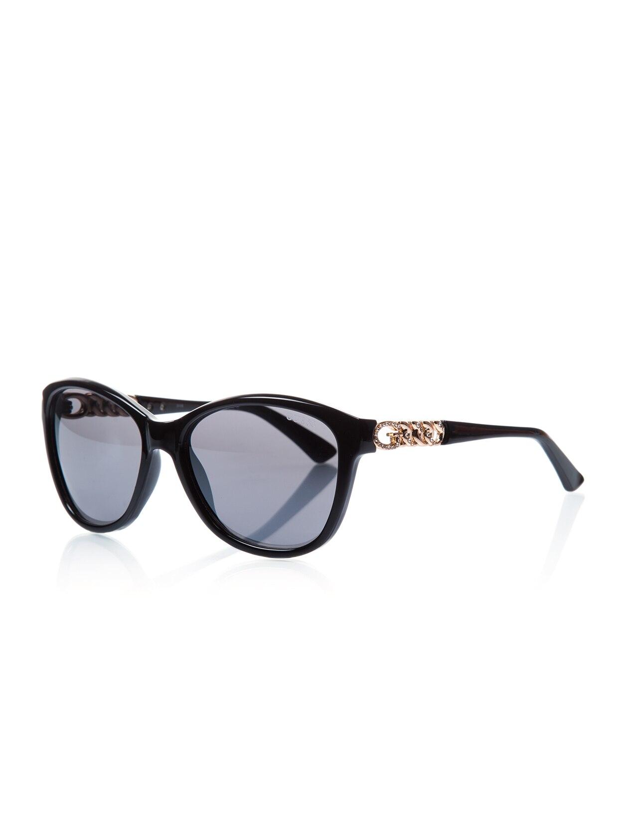 Women's sunglasses gu 7451 01c bone black organic 58-guess