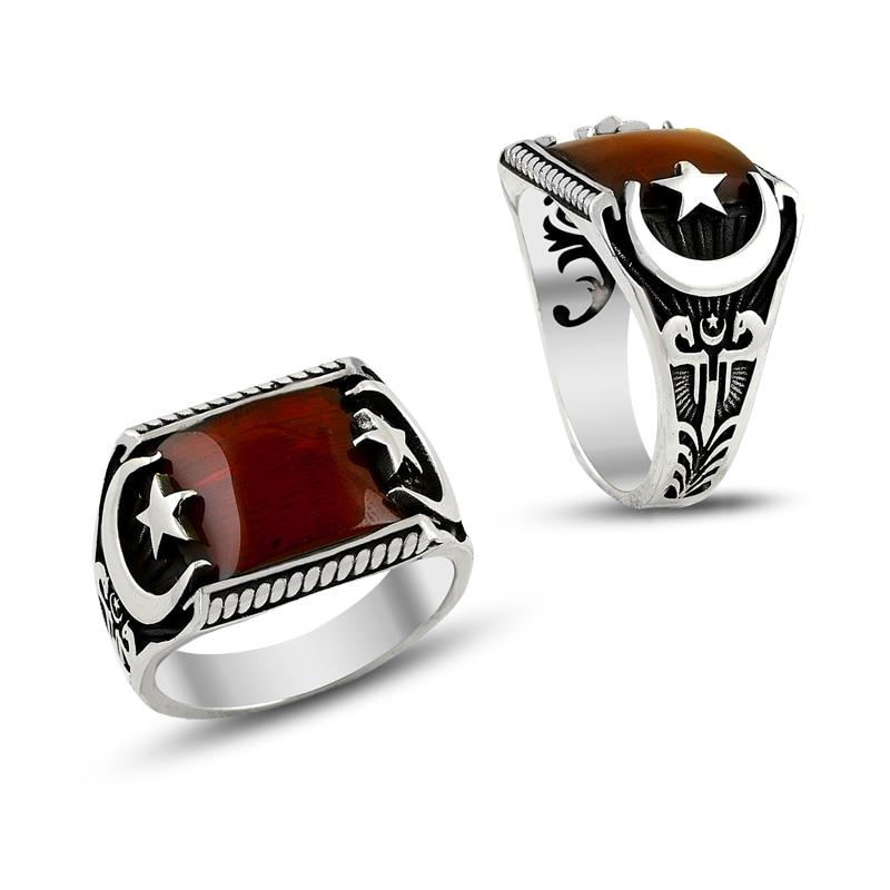 925 Silver Elegant Designed Ottoman Rings for Men(Turkey)