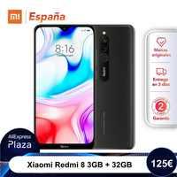 Xiaomi Redmi 8 (32GB ROM, 3GB RAM, Cámara de 12MP , Batería de 5000 mAh, Android, Nuevo, Libre) [Teléfono Movil Versión Global para España] redmi8