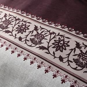 Image 4 - بسيطة فاخرة الملك الحجم الفراش مجموعات الأزهار الجاكار سرير مطبوع حاف الكتان مجموعة غطاء لحاف يغطي المفارش (لا غطاء سرير)