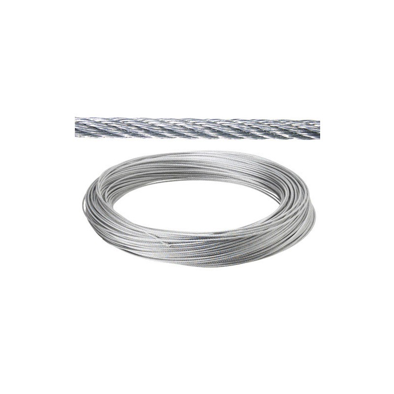 Galvanized Cable 6mm. (Roll 25 Meters) Not Lift