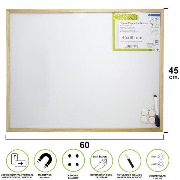 tableau-noir-magnetique-blanc-45x60-cm-avec-marqueur-et-4-aimants