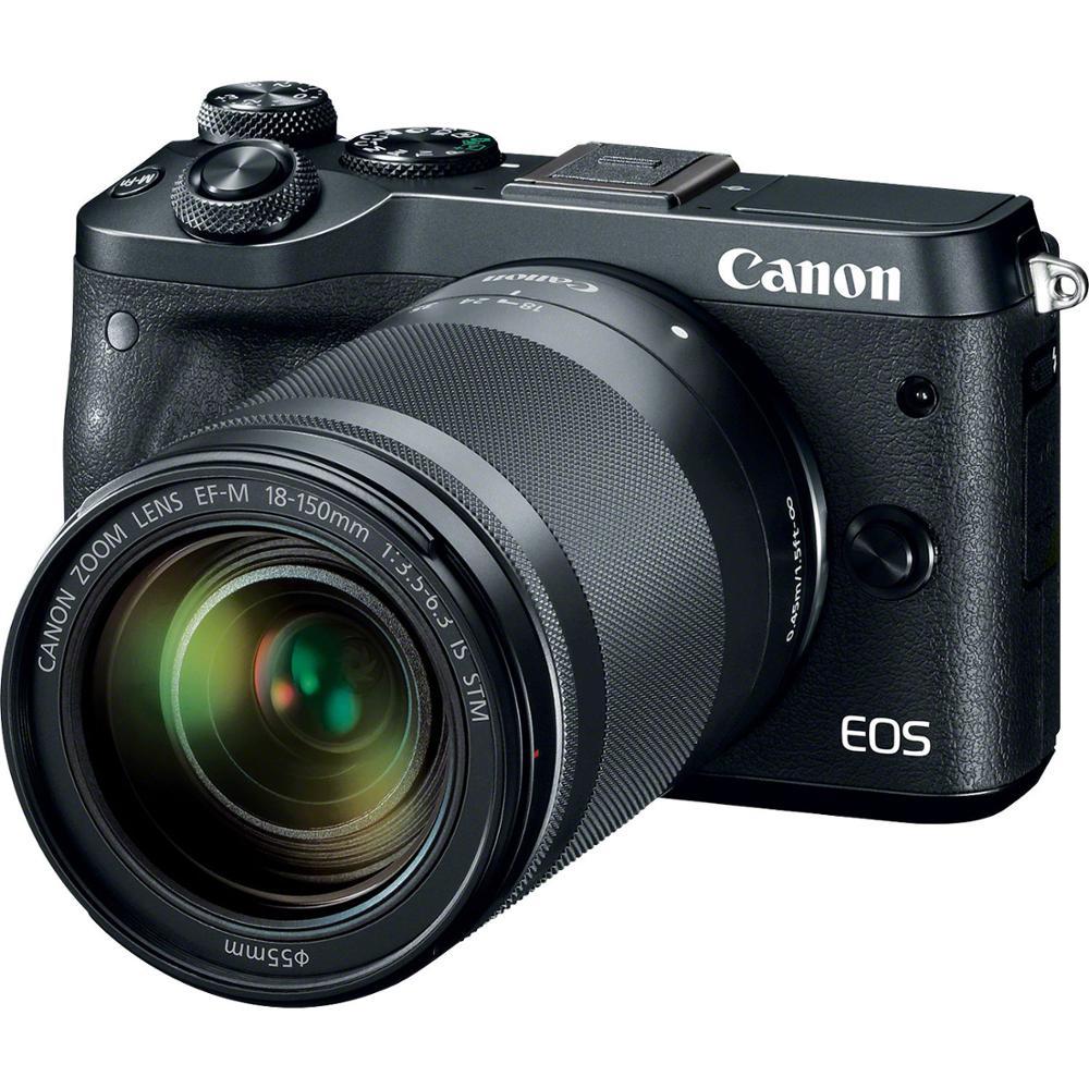 Canon EOS M6 Mark II Mirrorless Digital Camera & EF-M 18-150mm F3.5-6.3 IS STM Lens Black