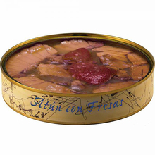Tuna Ventresca can with strawberries in olive oil 280 grams | Fish preserves El Ronqueo | gourmet preserves