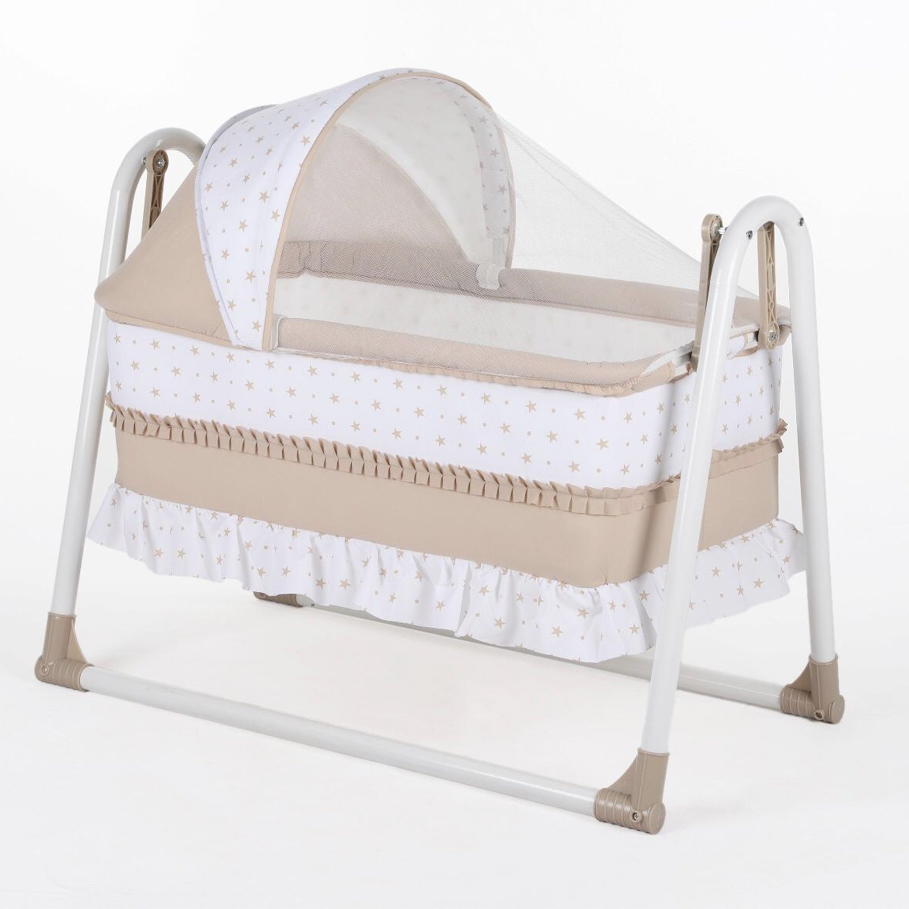Bebegen Elite Portable Rocking Baby Crib Coffee