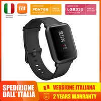 Xiaomi Amazfit Bip Smartwatch z ekranem szkło gorilla tętno/pomiar podczas snu czujnik geomagnetyczny Gps regalo ideale natale