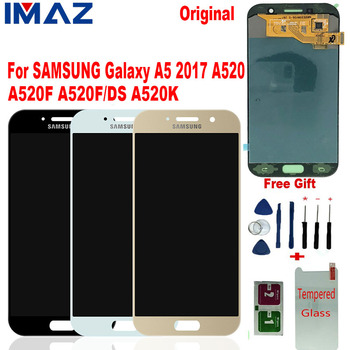 """IMAZ Original 5.2"""" For Samsung Galaxy A5 2017 A520 LCD Display Touch Screen Digitizer Replacement parts For A520F SM-A520F/K LCD"""