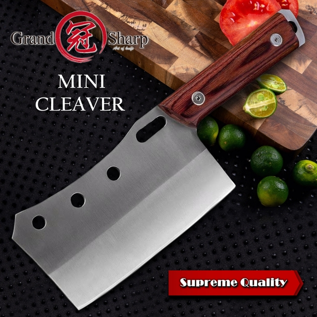 Cleaver Knife Hand Forged Mini Chef Kitchen Knives BBQ Tools Butcher Meat Hatchet Outdoor Camping Home Cooking Christmas Gift