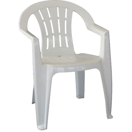Armchair CANARY, Monoblock, Stackable, White