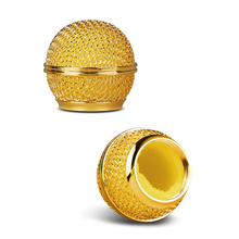 Bolymic sm58 Grill for Shure rk143 sm58 Microphone Grille Foam Golden 2 Pack