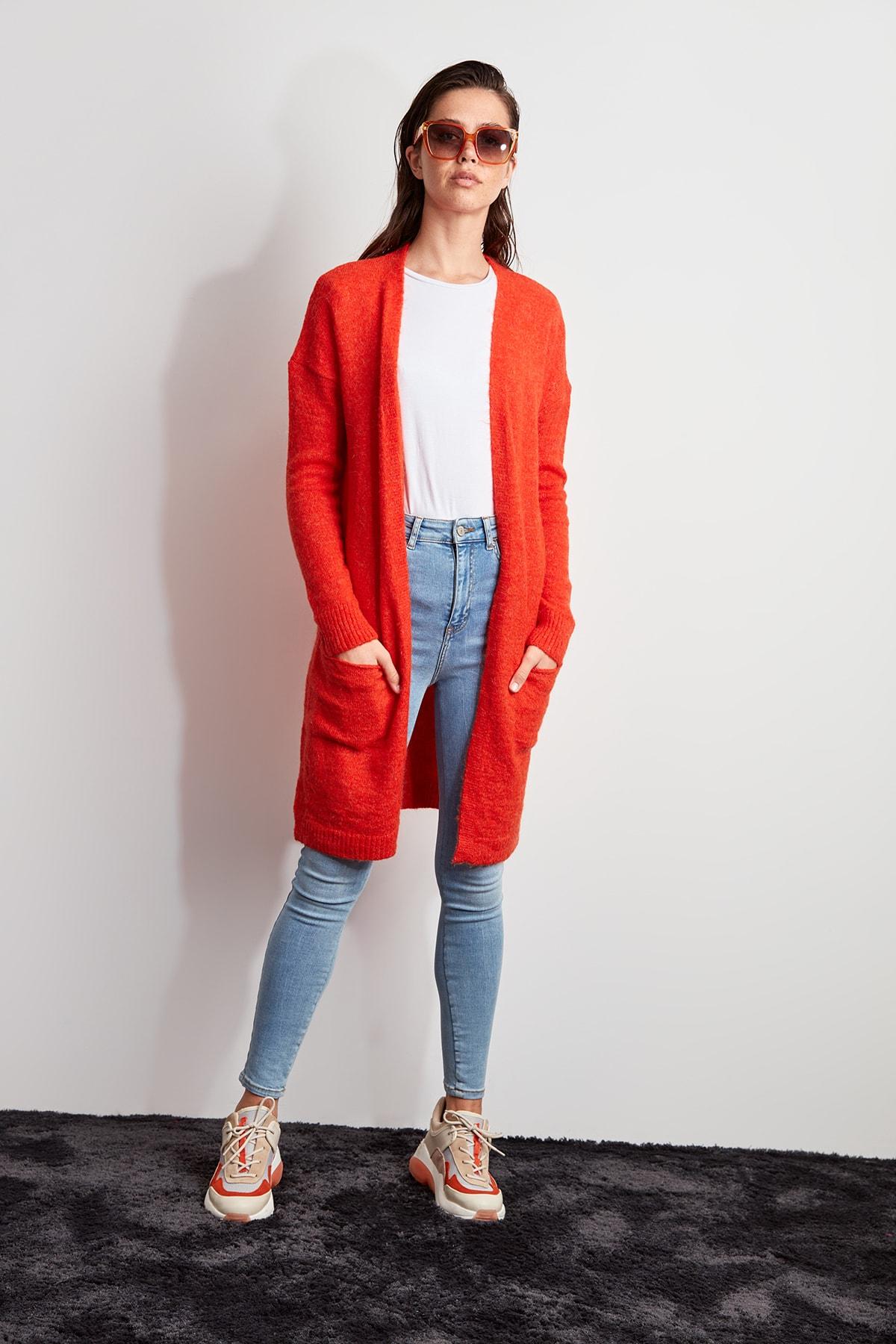 Trendyol Pocket Sweater Cardigan TWOAW20HI0231