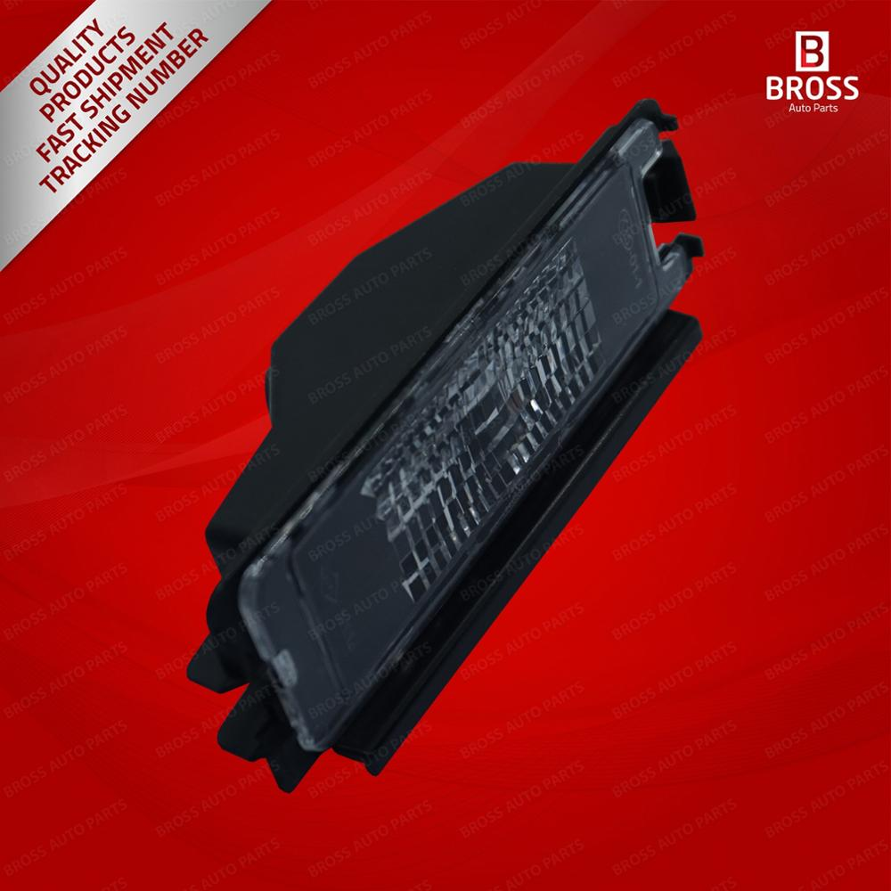 Bross bsp942 placa lâmpada de iluminação 8200957874 para dacia logan sandero mk2 renault símbolo mk3. Aviso: nenhuma lâmpada incluída!